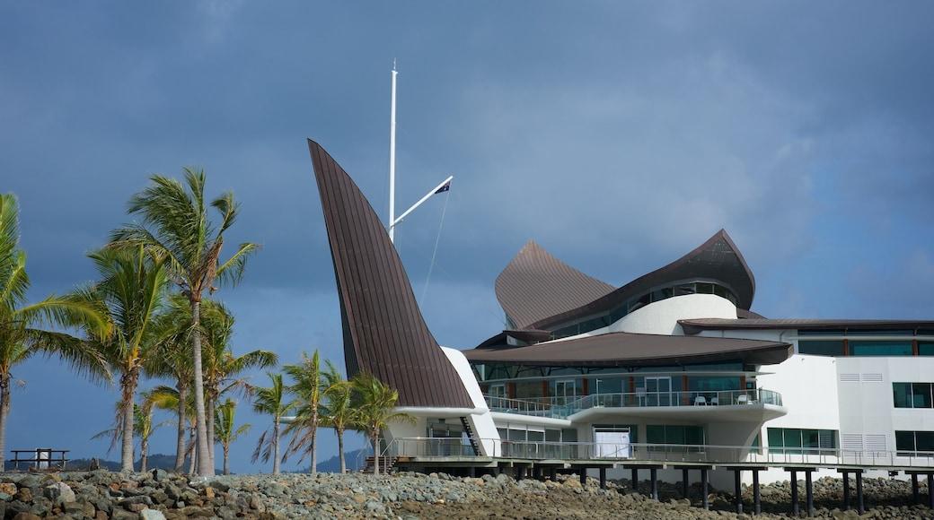 Hamilton Island Marina featuring modern architecture and general coastal views