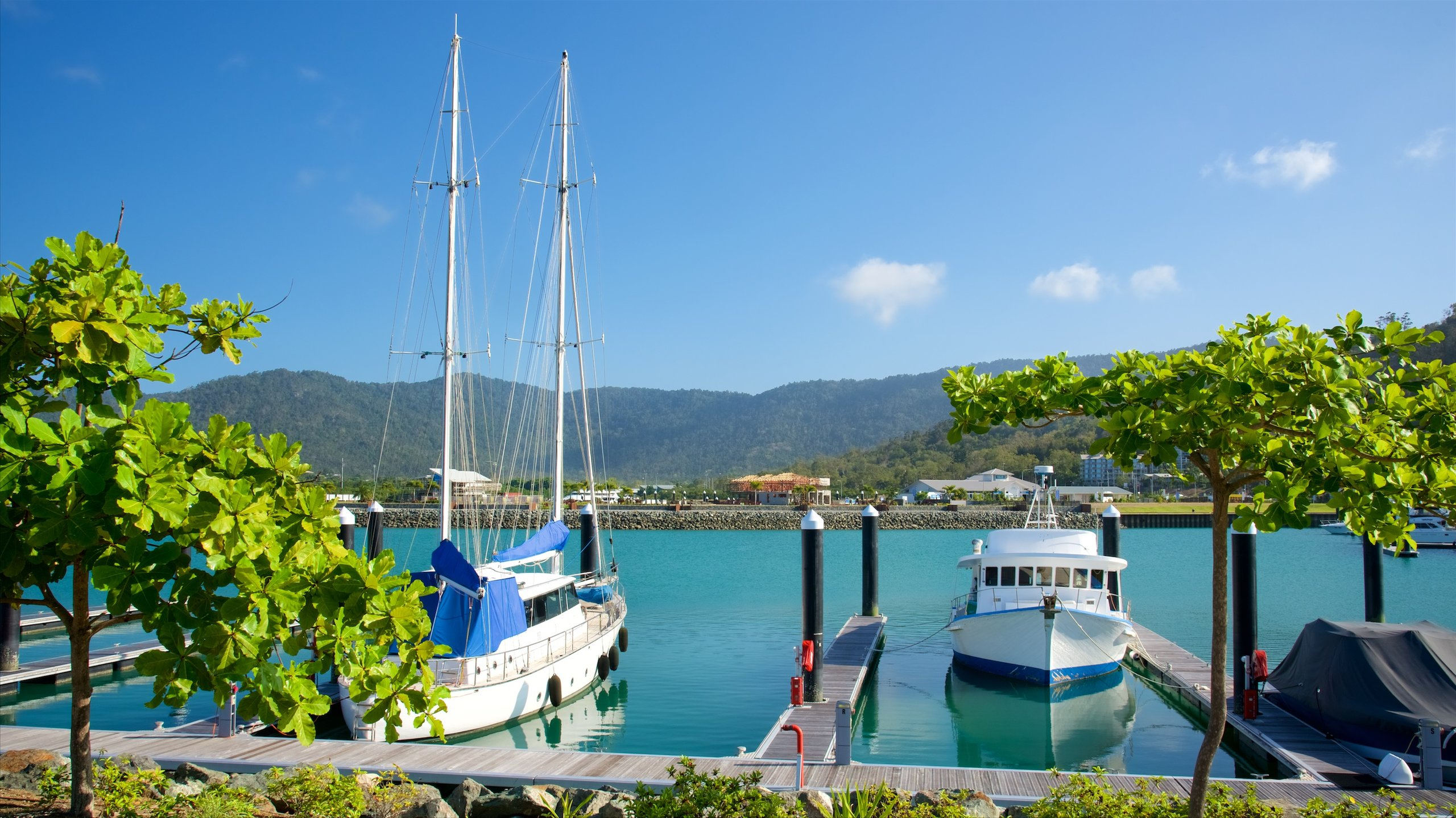 This sun-kissed marina is your gateway to the world-famous Whitsunday Islands. Sail or drive here to shop or dine with views over the glistering turquoise waters.