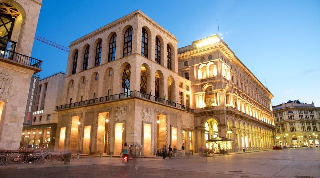 Milano caratteristiche di strade, architettura d\'epoca e tramonto
