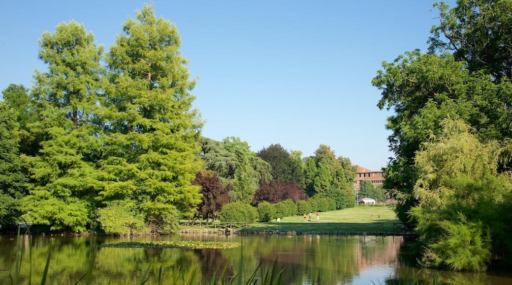 Parco Sempione caratteristiche di laghetto e giardino
