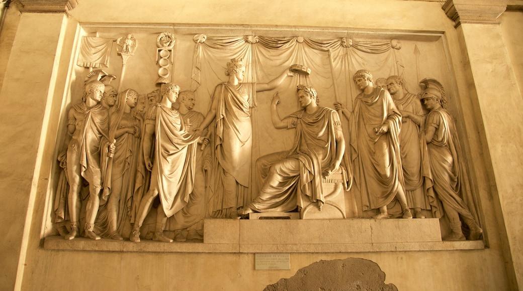 Pinacoteca di Brera que incluye una estatua o escultura y arte