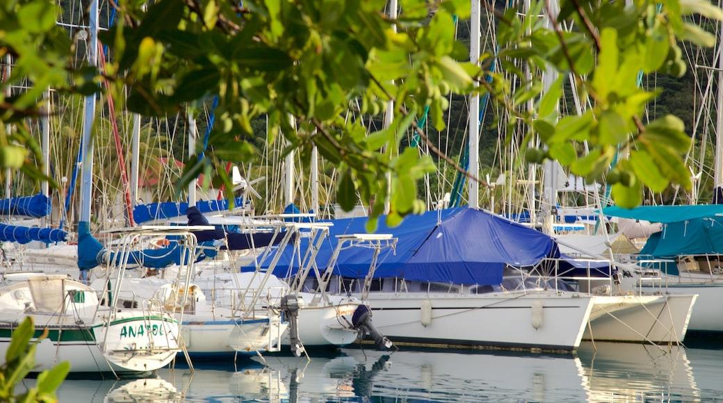 Raiatea Marina mit einem Segeln, Bucht oder Hafen und Bootfahren