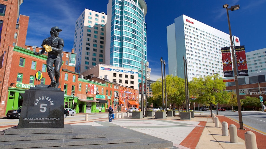 Baltimore johon kuuluu kaupunki, patsas tai veistos ja tori