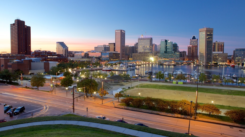 Baltimore featuring modern architecture, a city and night scenes