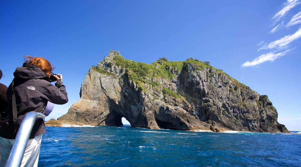 Russell which includes a bay or harbour and rugged coastline
