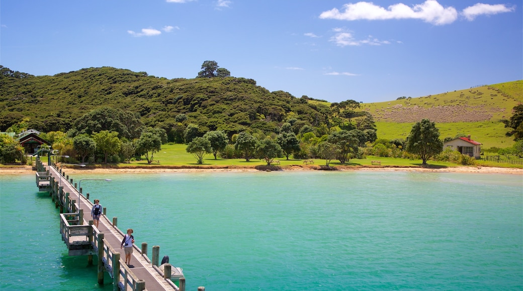 Russell featuring tranquil scenes, a beach and a bay or harbour