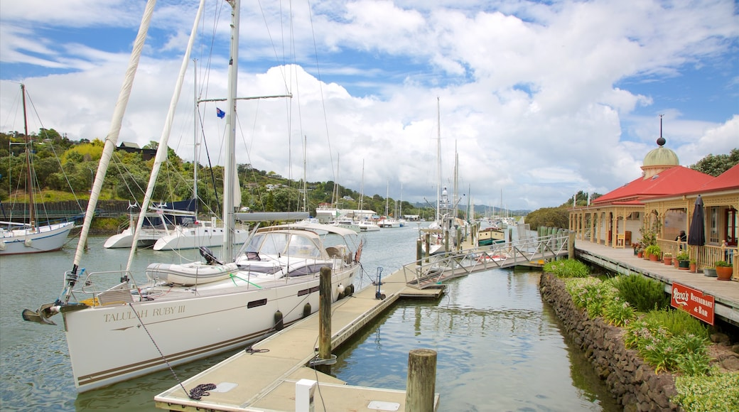 Whangarei showing sailing, a bay or harbour and a marina