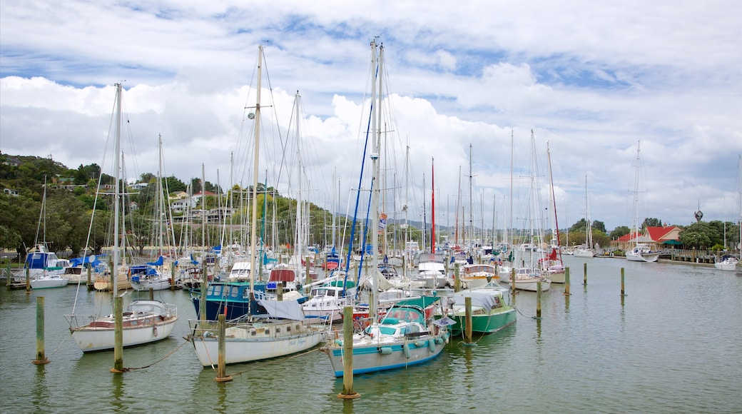 Whangarei which includes sailing, a marina and a bay or harbour
