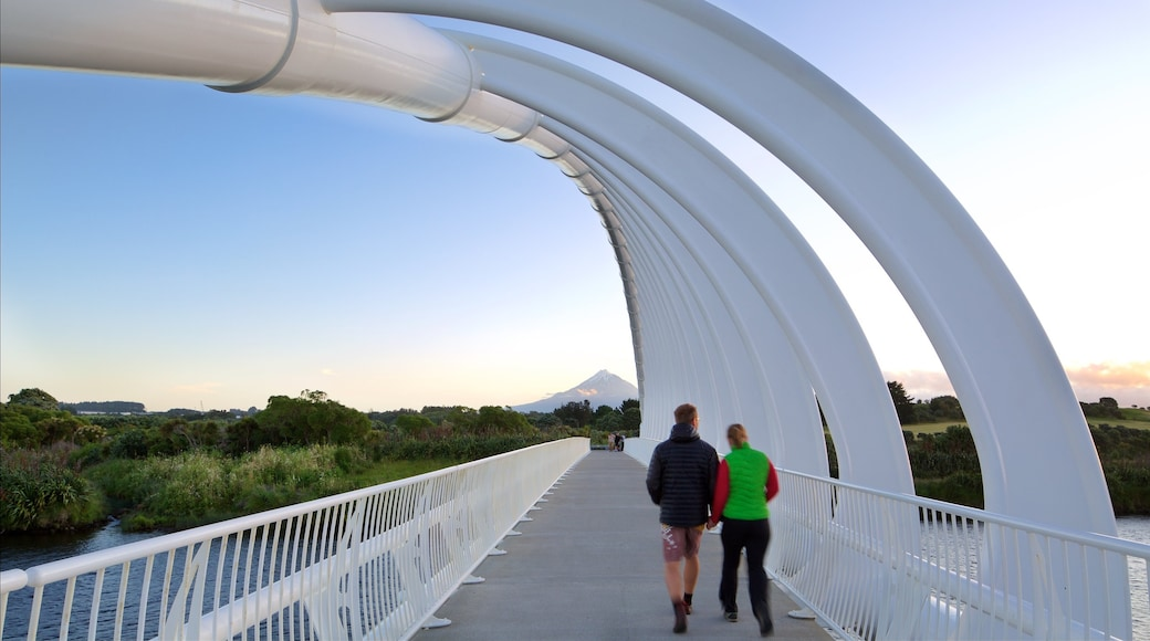 New Plymouth featuring a bridge as well as a couple