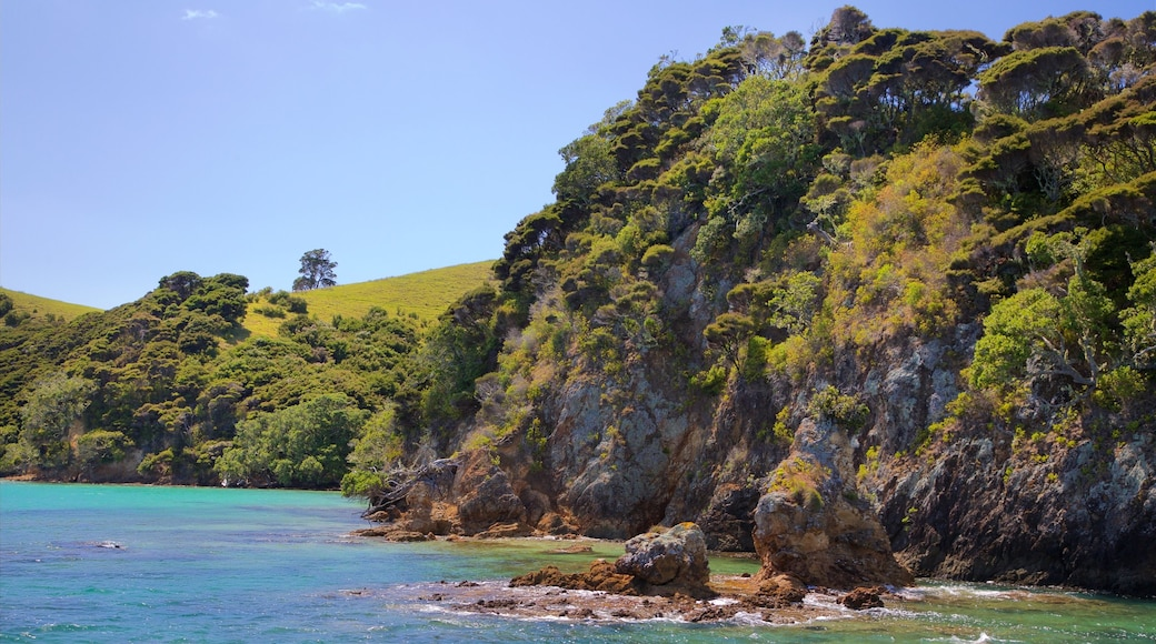 Russell featuring rugged coastline, a bay or harbour and tranquil scenes