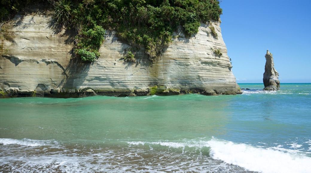 Urenui which includes general coastal views and rugged coastline