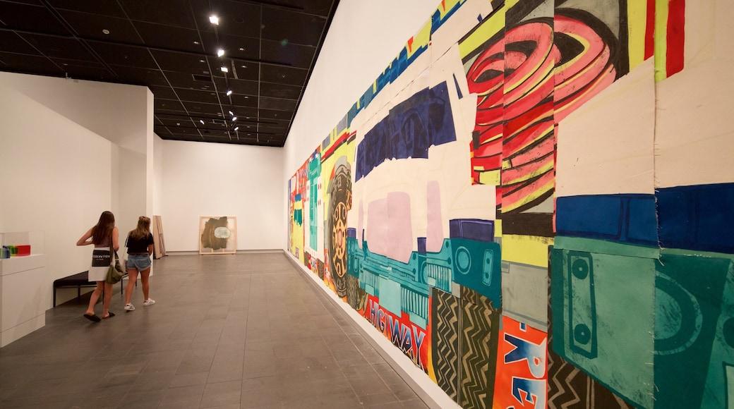 Christchurch Art Gallery featuring interior views