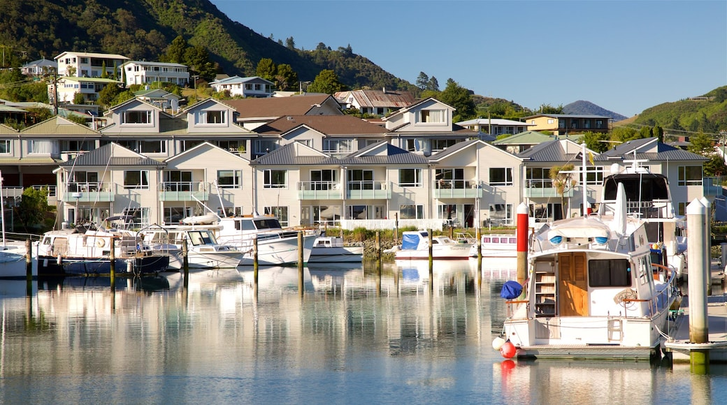 Picton Harbour showing a coastal town, a marina and a bay or harbour