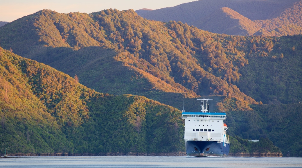 Picton which includes mountains, forests and a ferry
