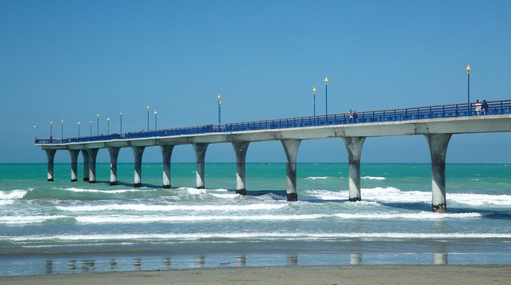 New Brighton Beach featuring surf and a sandy beach