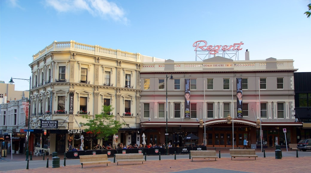 Regent Theatre which includes outdoor eating, café scenes and heritage architecture