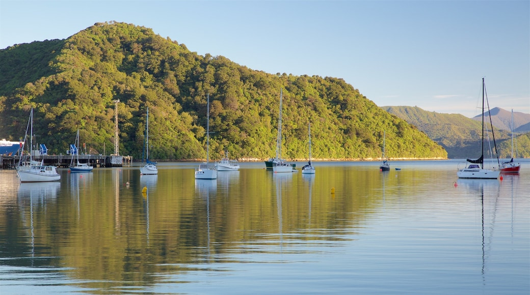 Picton Harbour showing sailing, a bay or harbour and forests
