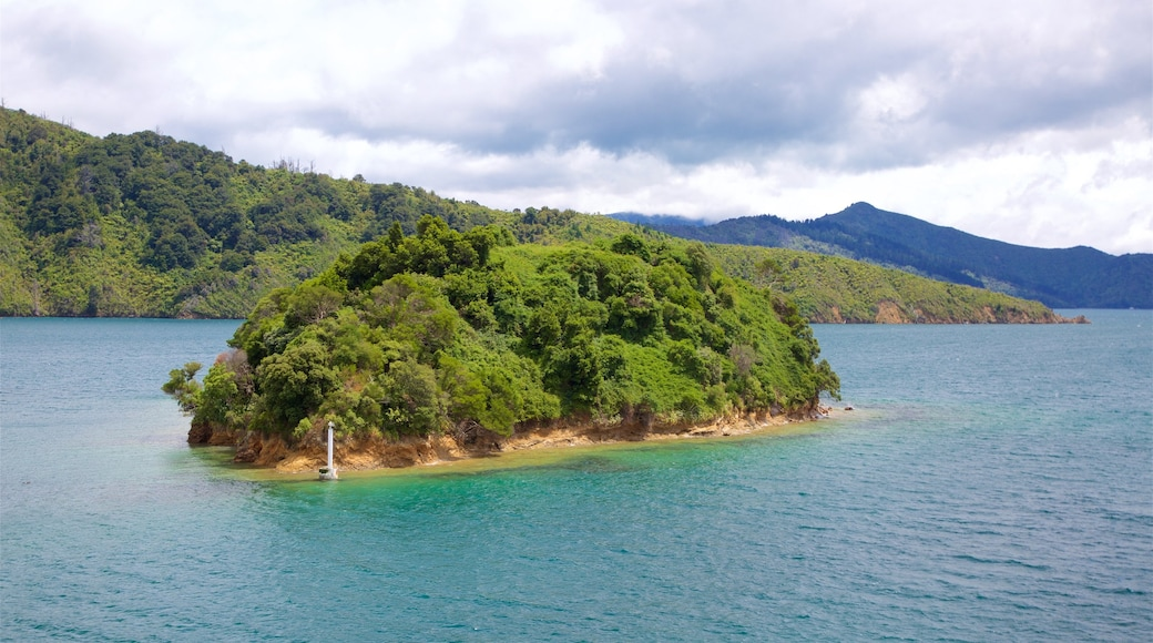 Mabel Island which includes a bay or harbour, sailing and island views