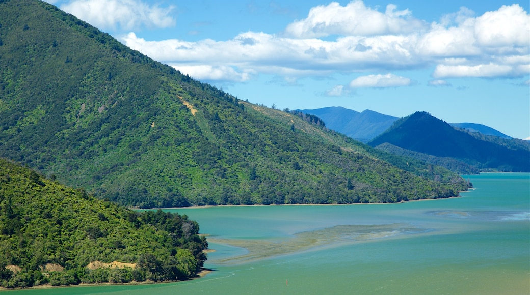 Mahau Sound which includes general coastal views and tranquil scenes
