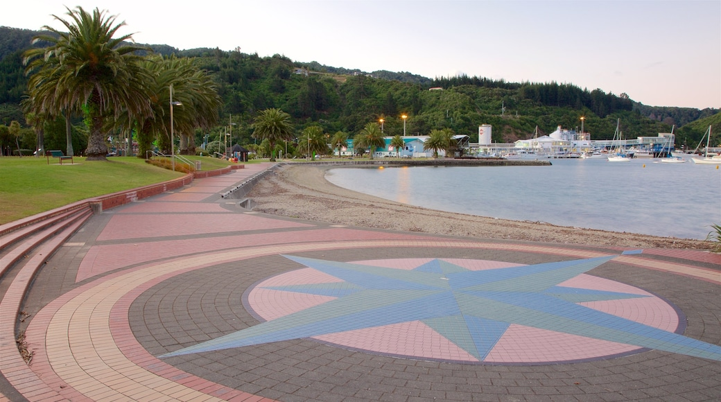 Picton which includes a pebble beach, a bay or harbour and a sunset
