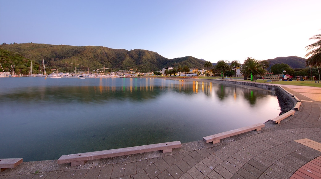 Picton featuring a sunset, a bay or harbour and sailing