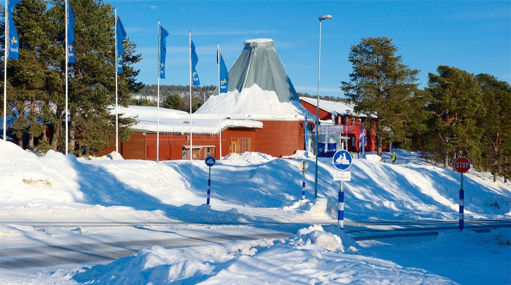 Sampi Park fasiliteter samt snø