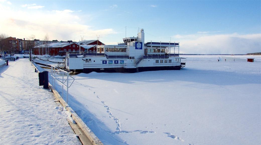 Luleå fasiliteter samt marina og snø
