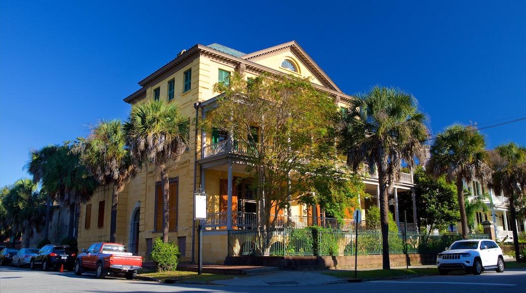 Aiken-Rhett House caracterizando elementos de patrimônio e uma casa