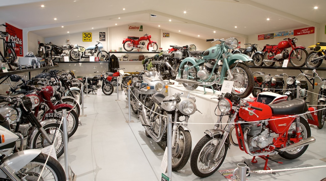 Bicheno\'s Motorcycle Museum & Restoration showing heritage elements and interior views