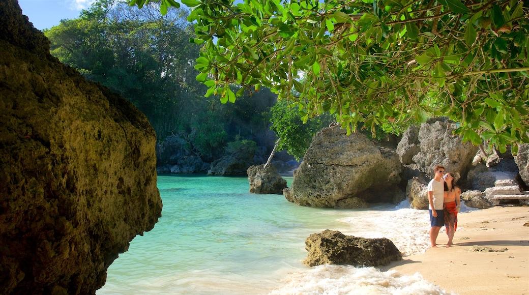 Balinghai Beach showing tropical scenes, a bay or harbor and a beach