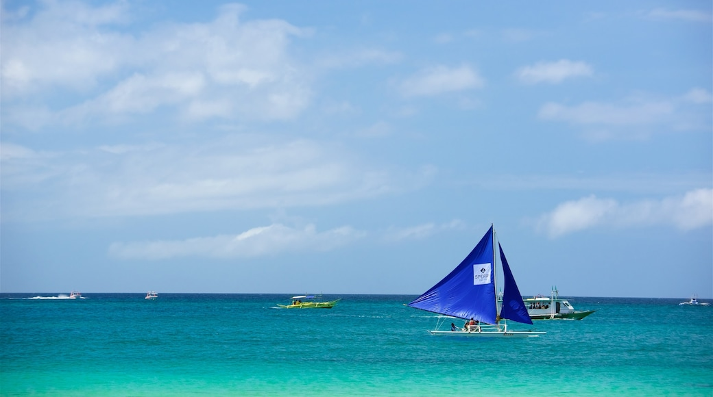 Boracay Island which includes general coastal views and sailing
