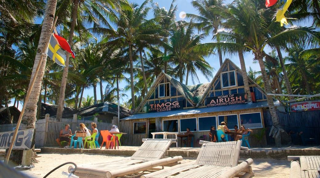 Aklan featuring tropical scenes, a beach bar and a beach