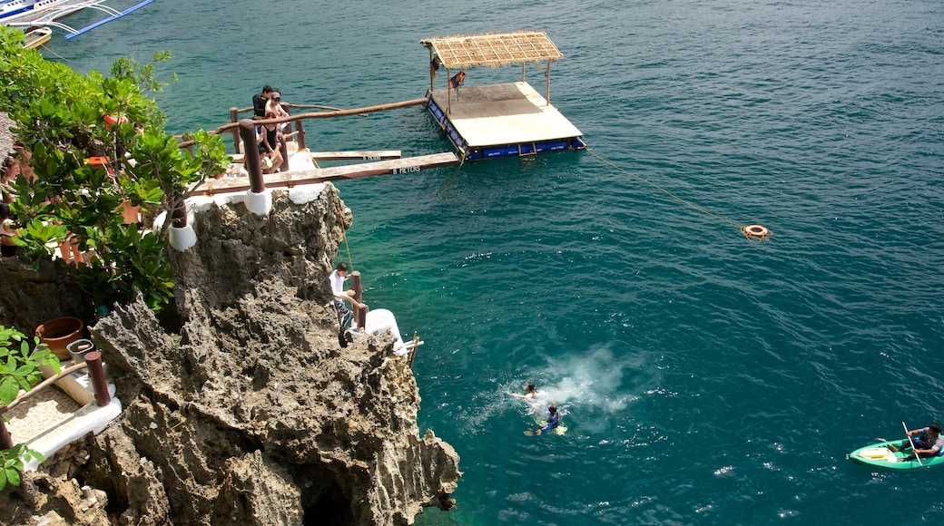 Ariels Point featuring island images, swimming and rugged coastline