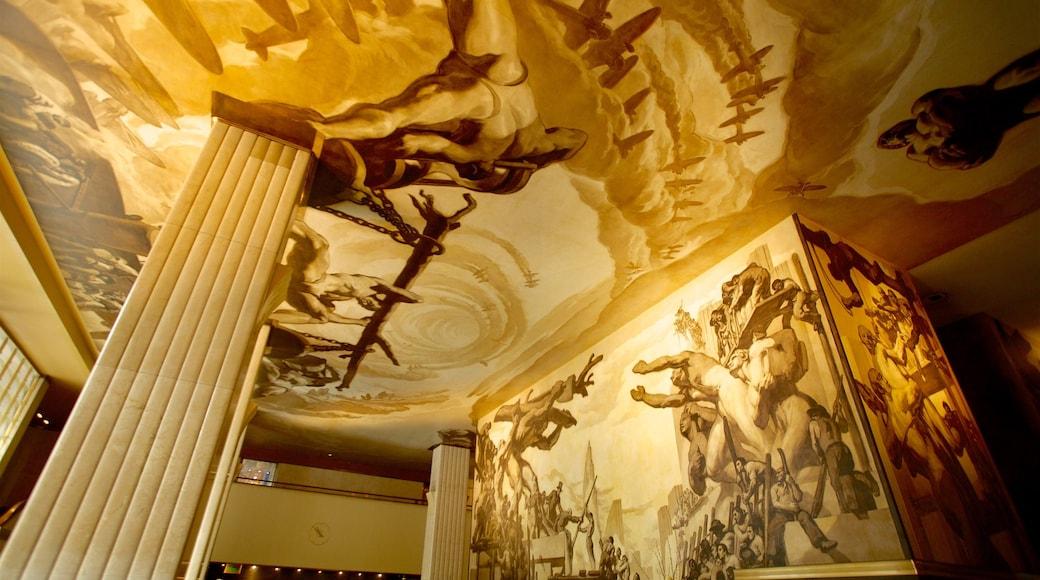 Rockefeller Center mostrando vista interna y arte