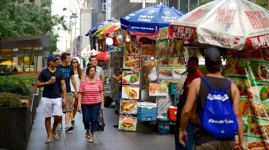 Rockefeller Center ofreciendo imágenes de calles, comida y mercados