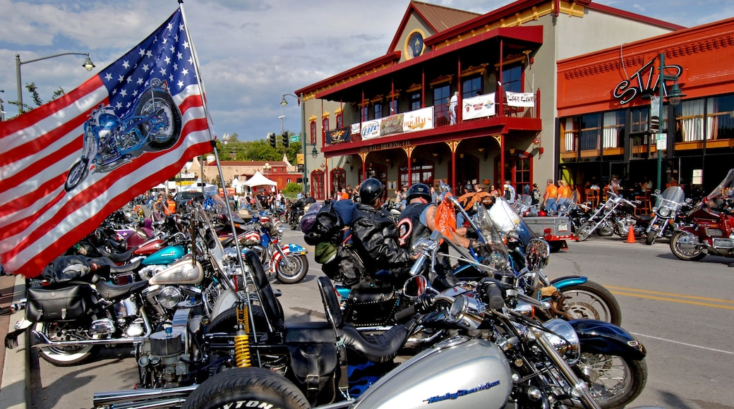 Fayetteville showing motorcycle riding