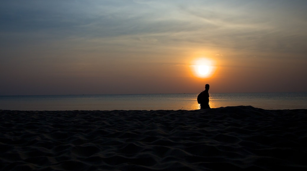 Phu Quoc Island showing a sunset and general coastal views as well as an individual male