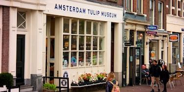 Ámsterdam ofreciendo escenas cotidianas y señalización y también un grupo pequeño de personas