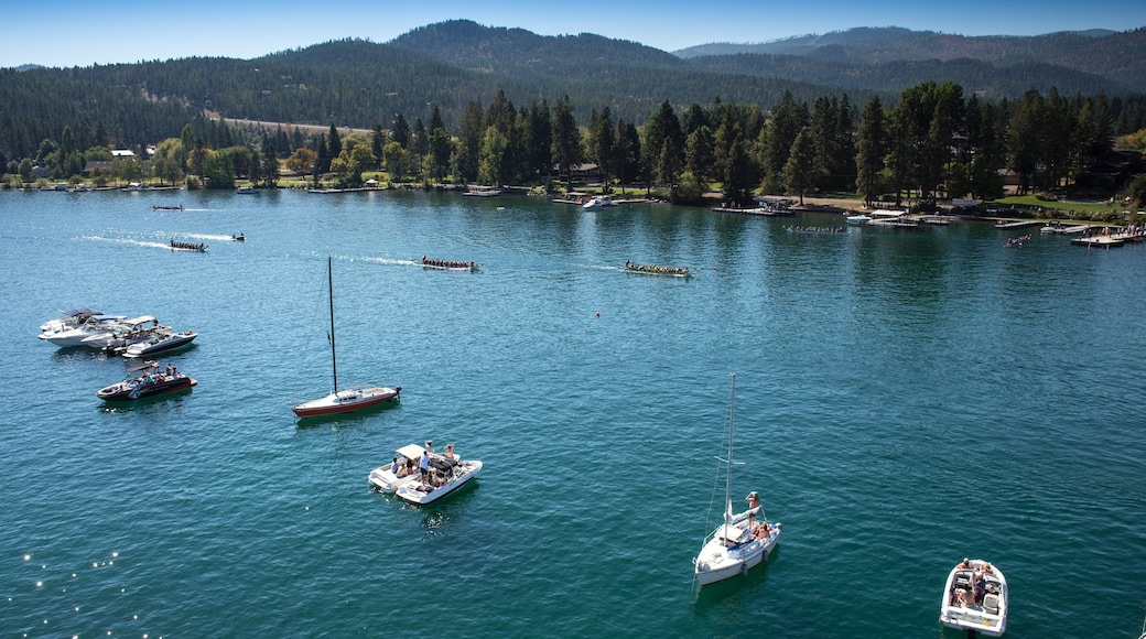 Flathead Lake which includes watersports and boating