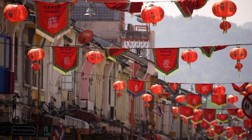 เมืองเก่าภูเก็ต แสดง เทศกาล และ ภาพท้องถนน