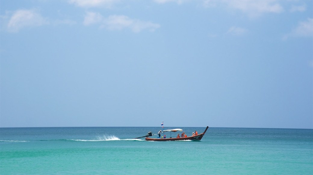 Surin Beach which includes boating and a bay or harbour