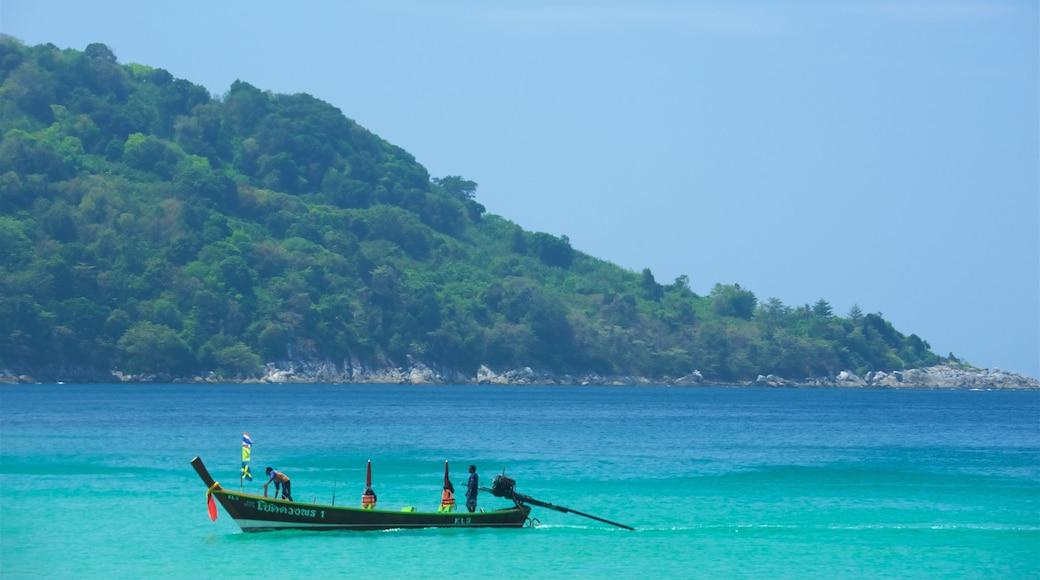 หาดกะตะน้อย ซึ่งรวมถึง การพายเรือ, อ่าวหรือท่าเรือ และ ชายฝั่งหิน