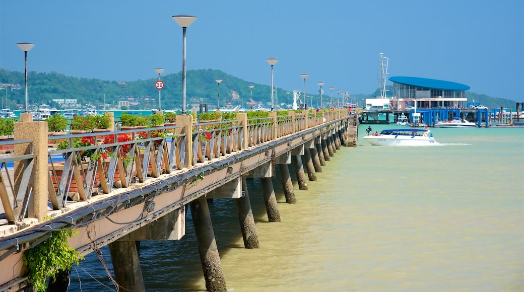 Chalong Pier featuring boating and a bay or harbour