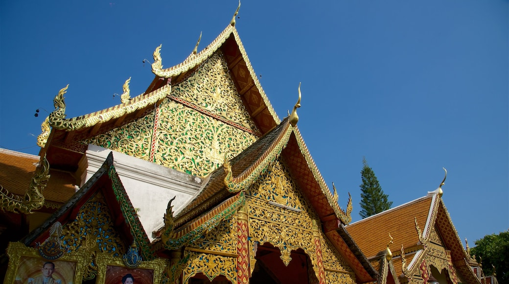 Wat Phrathat Doi Suthep featuring a temple or place of worship