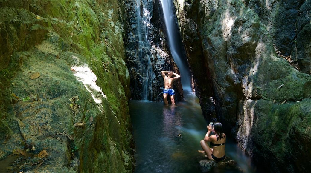 Phuket - Phang Nga showing a river or creek and a waterfall as well as a couple