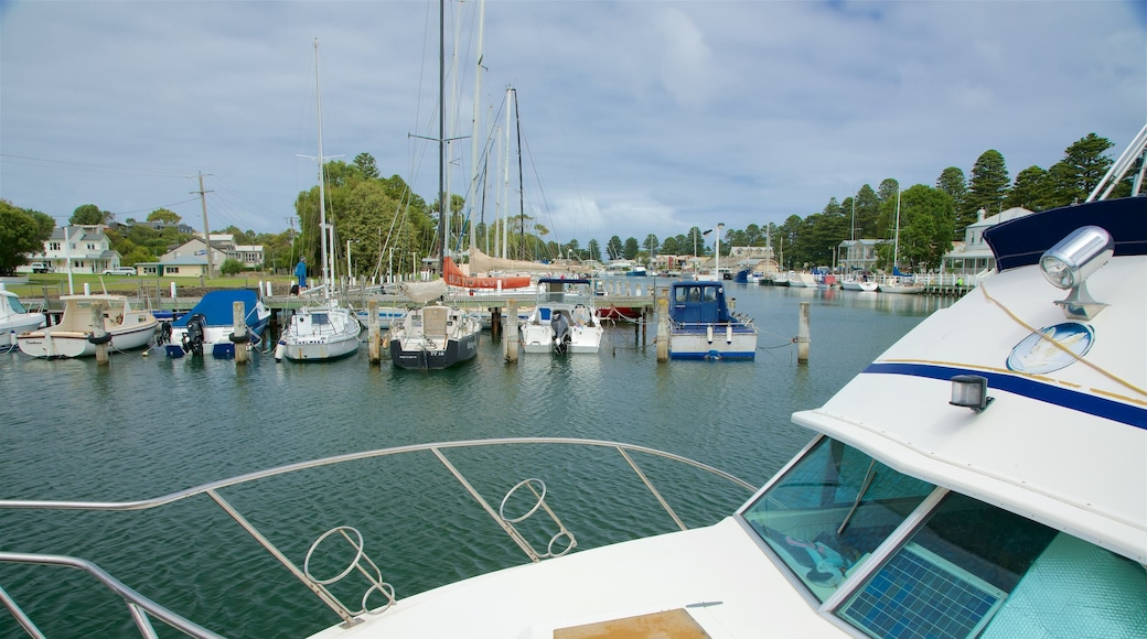 Port Fairy featuring a bay or harbor