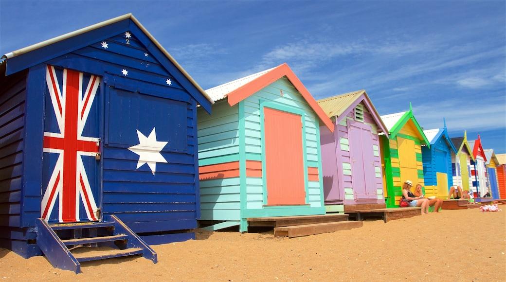 Brighton which includes a beach