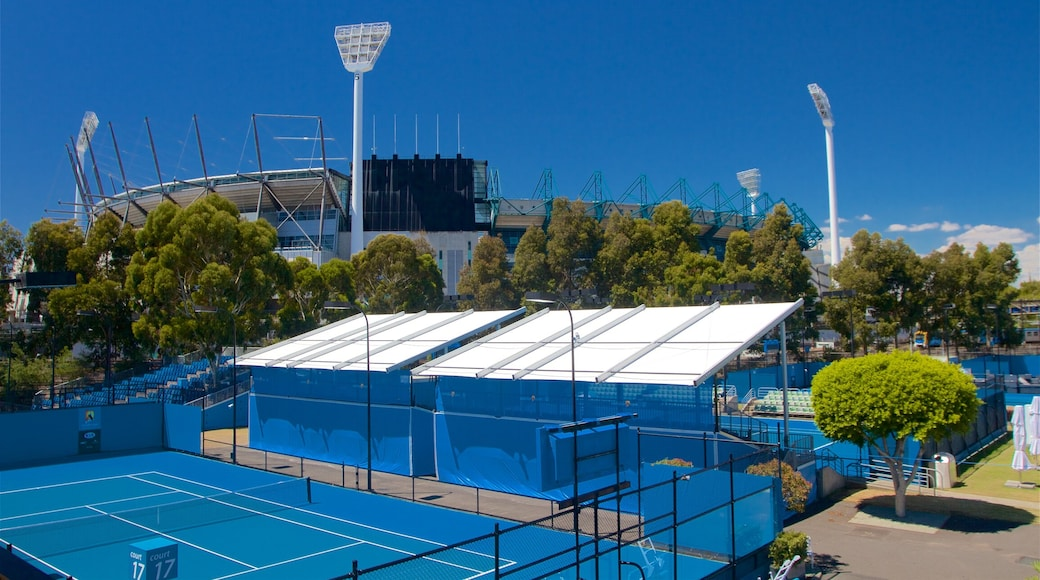 Melbourne Park which includes a sporting event