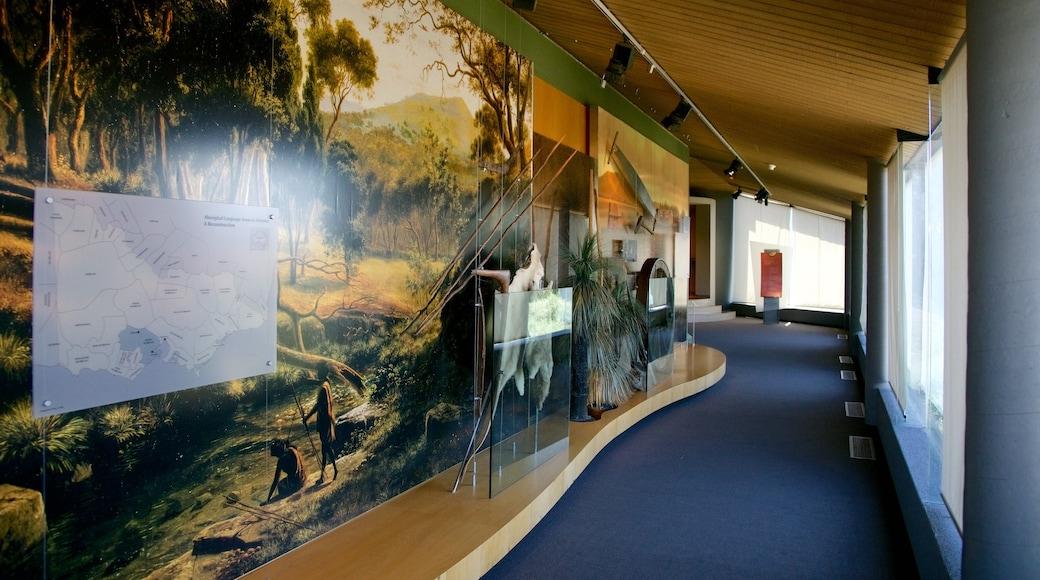 Gold Museum featuring interior views