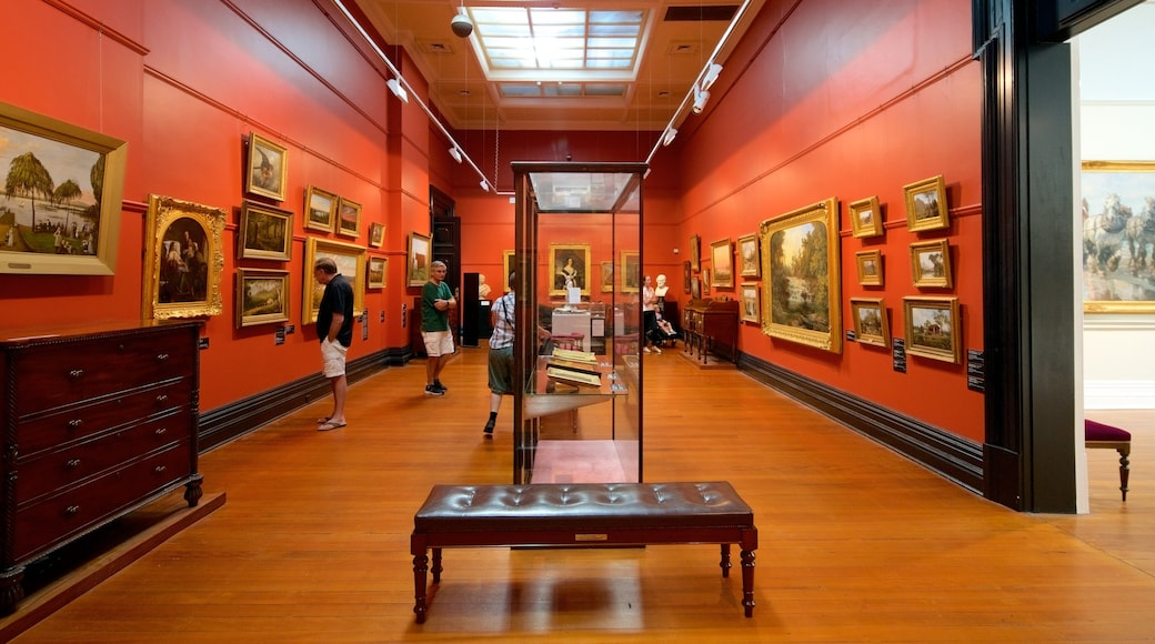 Ballarat Fine Art Gallery featuring interior views as well as a small group of people